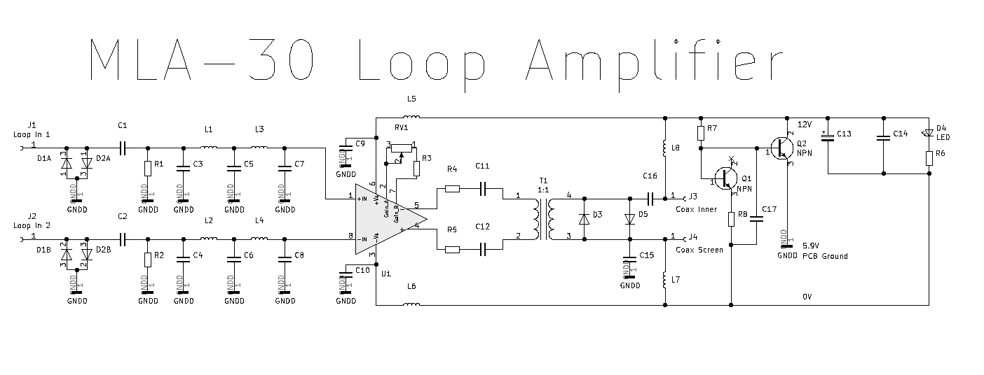 HF Receiving Loop DC Power Injector